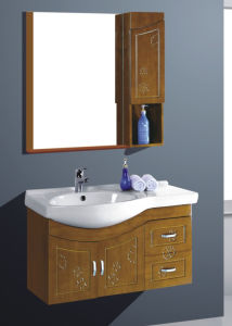 Wall Mounted Oak Bathroom Cabinet Vanity China Factory