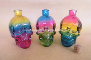 Rainbow Color Skull Head Shaped Bottle for Wine and Whisky