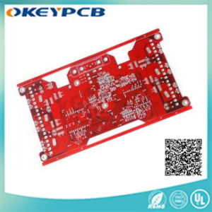 Red Printed Circuit Board with 2 Layers