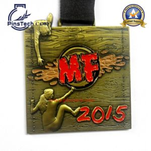 Mf 2015 Medal with 3D Relief Design Antique Gold Finish
