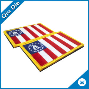 Country Flag Embroidered Patches with Magic Tape Clothing pictures & photos