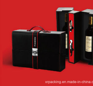 2016 New PU Leather Dual Wine Box/Case pictures & photos
