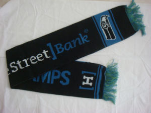 Acrylic Jacquard Knitted Football Fan Scarf pictures & photos