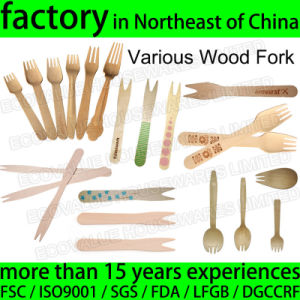 Disposable Wood Fork Logo Printed Wooden Chip Fork pictures & photos