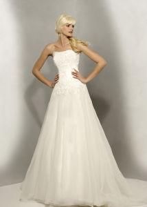 strapless white wedding Party Dress (077)