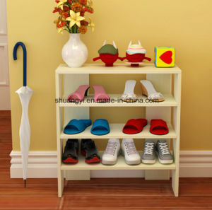 Modern White Living Room Furniture Save Space Wood Shoe Cabient Shoe Rack for Home pictures & photos