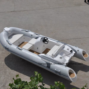Liya 4.3m 14ft Rigid Hull Inflatable Rubber Motor Boat for Sale pictures & photos