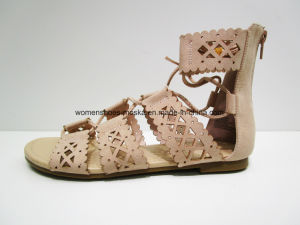 New Fashion Women Flat Heel Sandal Shoes Footwear pictures & photos
