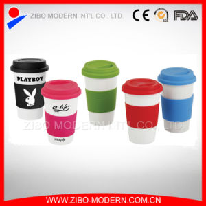 Promotional Ceramic Mug with Silicone Lid and Sleeve pictures & photos