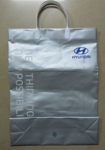 High Quality Printed Clip Handle Shopping Bags for Garments (FLC-8108) pictures & photos