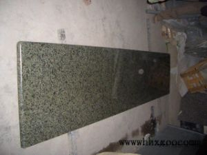 Honed Green Granite Coutertop for Kitchen pictures & photos