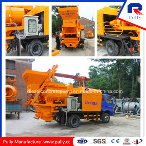 Pully Manufacture Truck Mounted Concrete Pump with Mixer (JBC40-L1) pictures & photos