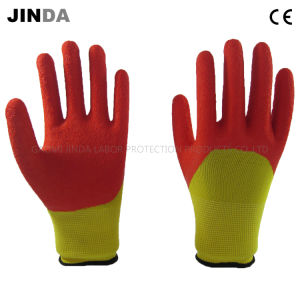 Polyester Shell Latex Coated Safety Work Glove (LH201) pictures & photos