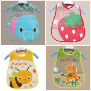 EVA Waterproof Lunch Bibs Burp Cloths for Children Self Feeding Care pictures & photos