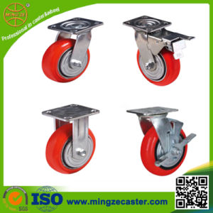 Korea Type PU Cast Iron Heavy Duty Casters pictures & photos