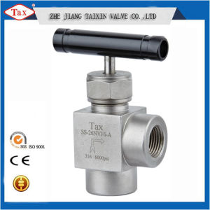 Stainless Steel Body Thread Angle Valve Black Handle Good Quality