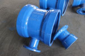 Double Socket Tee with Flanged Branch Ductile Iron   ISO2531/ En545/ En598/ En1092-2/ GOST pictures & photos