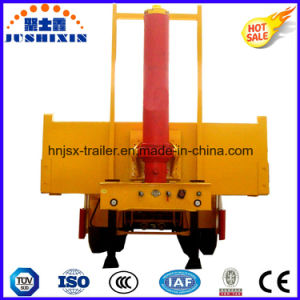 Hydraulic Type 3 Axles Container Dump Semi Trailer pictures & photos