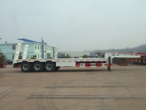 Cimc Low Flatbed Semi-Trailer Truck Chassis pictures & photos
