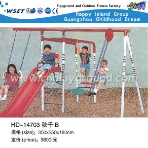 High Quality Combination Playground with Swing Set (HD-14703) pictures & photos