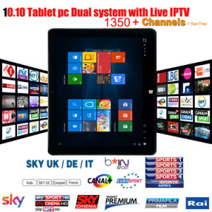 10.10 Inch Tablet PC with Dual System Windows 10 Android 5.1 3G Tablet PC with Live IPTV pictures & photos