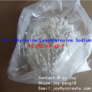T4 L-Thyroxine/ Levothyroxine Sodium/ T4 CAS 51-48-9 Effective Fat Burner