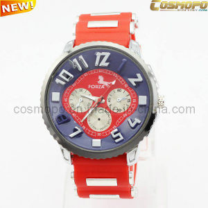 Red Silicone Men Watch (SA1913)