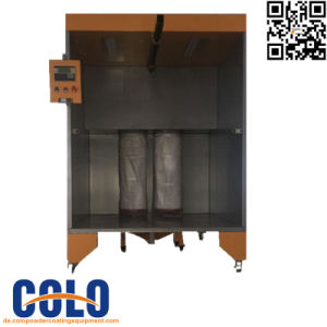 Manual Powder Spray Booth for Car Rim pictures & photos