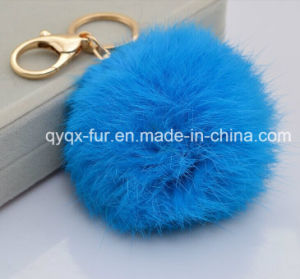 2014 New Style Faux Fox Fur Ball Keychains for Bag/Car/Home Decoration pictures & photos