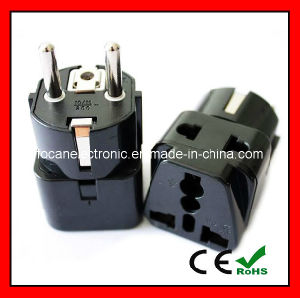 Two Outlet Grounded Universal Schuko Plug for Germany, France, Europe, Russia & More CE Cert pictures & photos