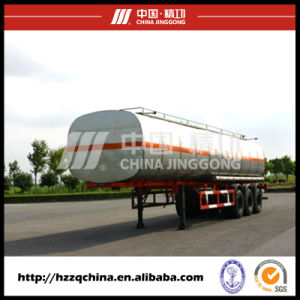 Chinese Manufacturer Offer Carbon Steel Q345 Tank Trailer for Light Diesel Oil Delivery40800L (HZZ9400GYY) pictures & photos