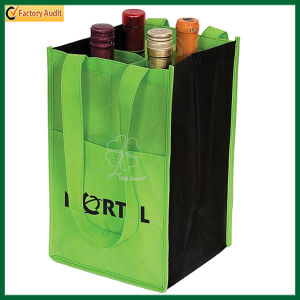 Wholesale Cheap Non Woven 4 Bottles Wine Bag (TP-WB072) pictures & photos