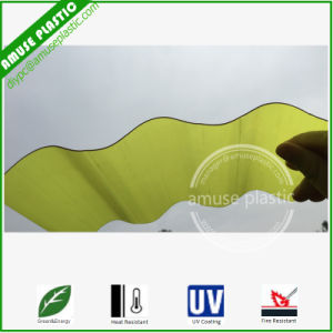Colored Plastic PC Wavy Circular Corrugated Polycarbonate Lighting Roof Sheet pictures & photos