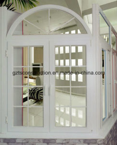 UPVC Doule Glazing Casement Windows with Built-in Grille pictures & photos