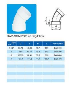 45deg Elbow PVC Fittings ASTM Dwv D2665 pictures & photos