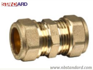 China compression coupling compression fitting brass for Copper to plastic fittings