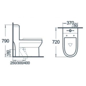 Siphonic Wc Sanitary Ware Bathroom One Piece Ceramic Toilet pictures & photos