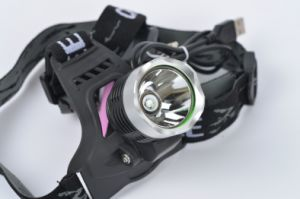 New 10W UV 395nm 18650 Rechargeable LED Headlamp pictures & photos