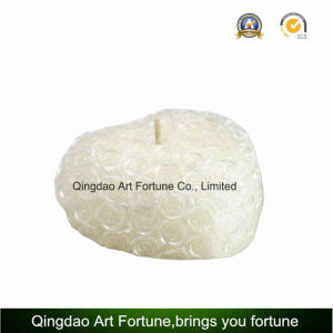 Carved Ball Shape White Wedding Candle with Embossed Rose Pattern for Home Decoration pictures & photos
