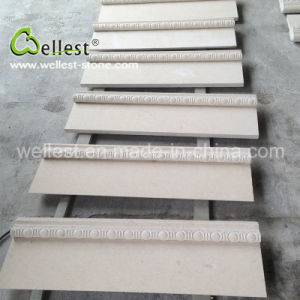 Wall Cladding Natural Cream Beige Honed Surface Limestone pictures & photos