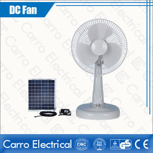 12/14/16 Inch Hot Sell Portable Solar or Battery Used DC Solar Table Electric Fan with Light