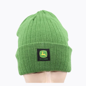 Green Kintted Winter Cap with Woven Label (GK0401-S1003) pictures & photos