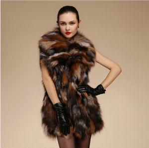New Fashion Winter Warmest Genuine Fox Fur Vest pictures & photos