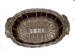 Unique Willow Tray with Wood Ear Handles (dB042)