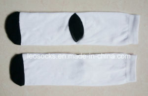 Blank Polyester Socks for Sublimtion with Black Bottom pictures & photos