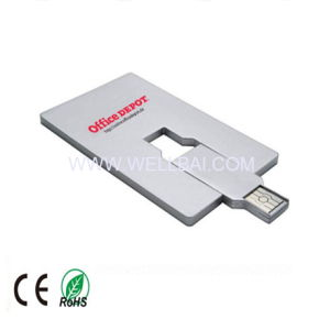 Card USB Stick with Full Color Printing Logo for Promotion