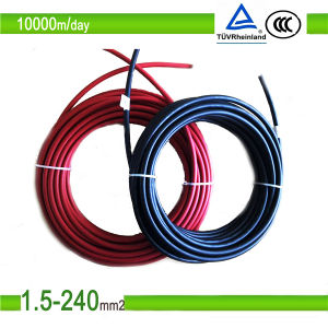 UV Resistant TUV Approved Solar Connector Cable for Photovoltaic Systems pictures & photos