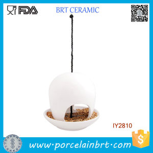 Hanging Ceramic Dish for Bird White Bird Feeder pictures & photos