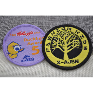 Polyester Fabric Label Badge for School Uniform pictures & photos