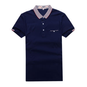 New Design Solid Color Men′s Short Sleeve Polo Shirt Slim Shirt for Men Tee Tops pictures & photos
